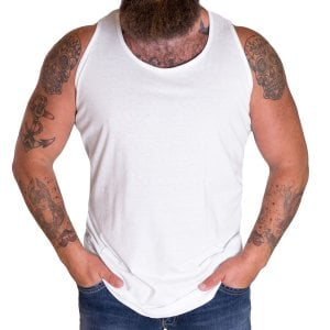 Solid State Kingsize Boston Muscle Vest White