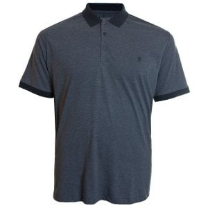 French Connection Kingsize 56KIH Contrast Collar Polo Marine Marl