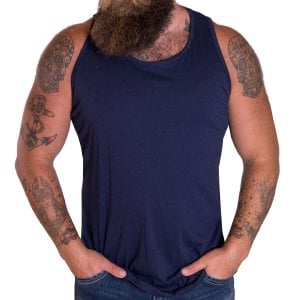 Solid State Kingsize Boston Muscle Vest Navy