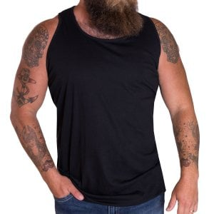 Solid State Kingsize Boston Muscle Vest Black