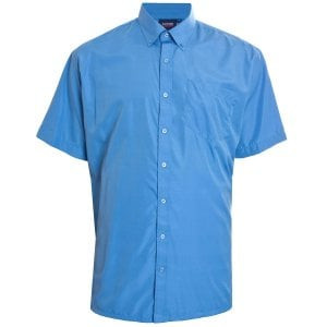 Espionage Kingsize SH298 Plain PV S/S Shirt Blue