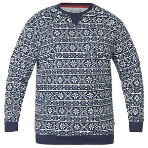 D555 Kingsize Advent Christmas Knitwear Navy