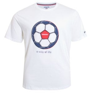 Lambretta Kingsize Football Target T-Shirt White