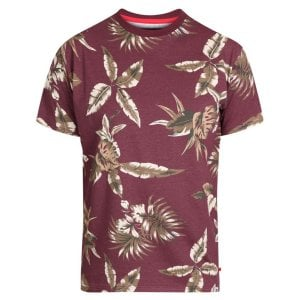 D555 Kingsize Baxter Leaf T-Shirt Wine