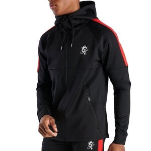 Gym King Lombardi Poly Track Top Black/Red