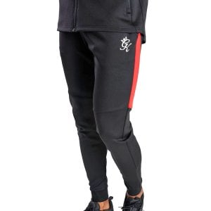 Gym King Lombardi Poly Track Bottoms Black/Red