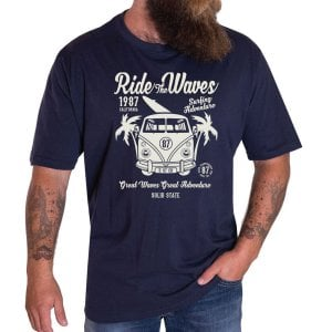 Solid State Kingsize Virginia T-Shirt Navy