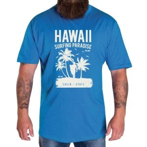 Solid State Kingsize Hawaii T-Shirt Blue