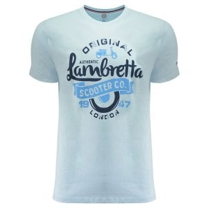Lambretta Kingsize Scooter T-Shirt Light Blue