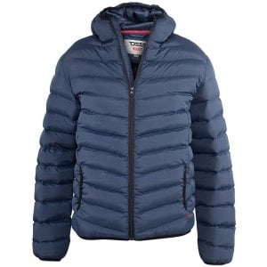 D555 Kingsize Huntington Hooded Padded Jacket Navy