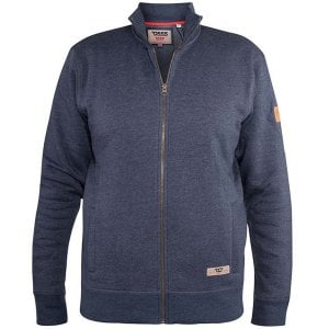 D555 Kingsize Lamson Zip Sweatshirt Denim Marl