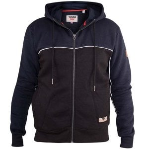 D555 Kingsize Vincent Zip Hoodie Navy/Black