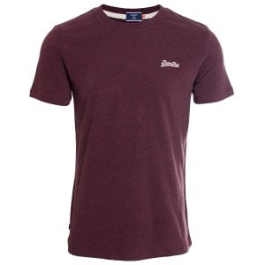 Superdry OL Vintage Embroidery T-Shirt Burgundy Grit