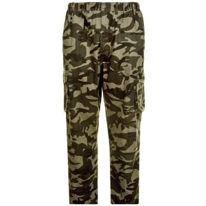Espionage Kingsize Camo Cargo Trousers Olive