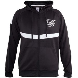 D555 Kingsize Bristol Zip Track Top Black