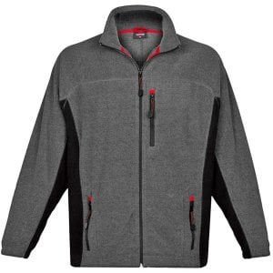 Espionage Kingsize FL029 Bonded Rib Fleece Jacket Charcoal