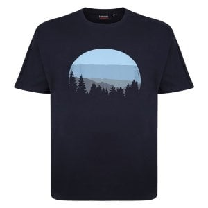 Espionage Kingsize T313 Forest T-Shirt Navy