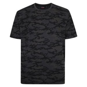 Espionage Kingsize T314 Camo T-Shirt Grey