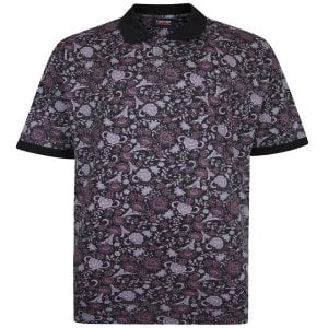 Espionage Kingsize P173 Floral Polo Black
