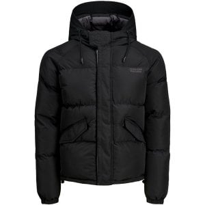 Jack & Jones Kingsize Trant Rain Visor Puffer Jacket Black