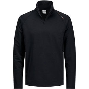 Jack & Jones Kingsize Running Performance Half Zip Top Black