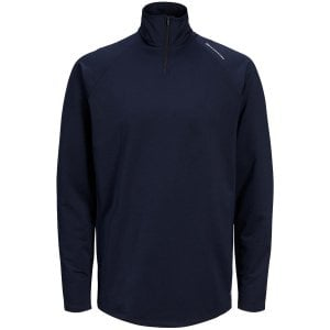 Jack & Jones Kingsize Running Performance Half Zip Top Navy Blazer