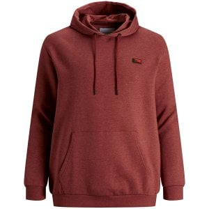 Jack & Jones Kingsize Scultz Hoddie Red Ochre